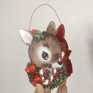 Retro Inspired Reindeer Tin Bucket